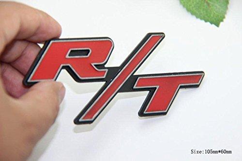 D236 - Adesivo 3D per auto, con stemma, colore: rosso