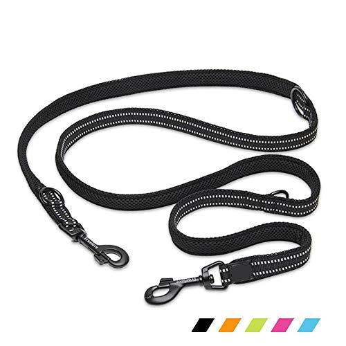 7 In 1 Multifunktions-Nylon-Hundeleine für Hund Doppellauf Training Hände frei Haustier Hund Leine