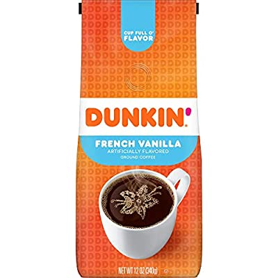 Dunkin' Donuts Coffee Flavored Ground .0 French Vanilla 12 Ounce