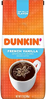Dunkin' French Vanilla Flavored Ground Coffee, 12 Ounces