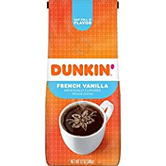 Contains 1 - 12 ounce bag of ground coffee. For a limited time, you may receive either bag while we update our packaging. Both contain the same great Dunkin' Coffee Crave-worthy vanilla flavor A smooth and flavorful medium roast coffee, specially ble...