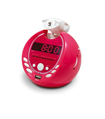 Metronic 477018 Gulli Radio-Réveil Enfant  MP3 USB Projection 180° - Rose