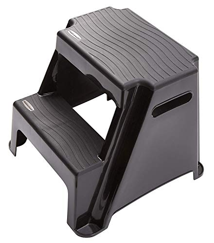 Rubbermaid RM-P2 2-Step Molded Plastic Stool with Non-Slip Step Treads, 300-Pound Capacity (Amazon Exclusive)