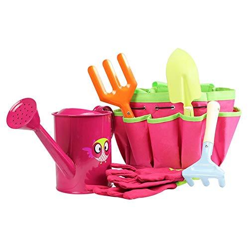 Tuingereedschapset voor kinderen, tuingereedschapset voor kinderen, veilig speelhuisje voor kinderen, multifunctioneel, leuk cadeau voor jongens en meisjes yellow