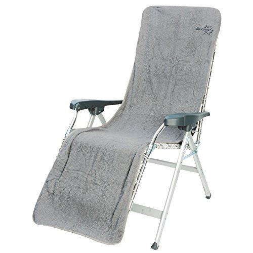 Siehe Beschreibung Frottee-Sitzbezug Cover L Baumwolle hellgrau 180x58 cm - Frottee Schonbezug Gartenstuhl Auflage Sonnenliege Liegestuhlauflage Liegenbezug