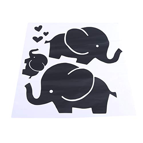 L_shop Elefantenfamilie Liebe Herz Wandaufkleber Abziehbilder für Babyparty Wanddekoration