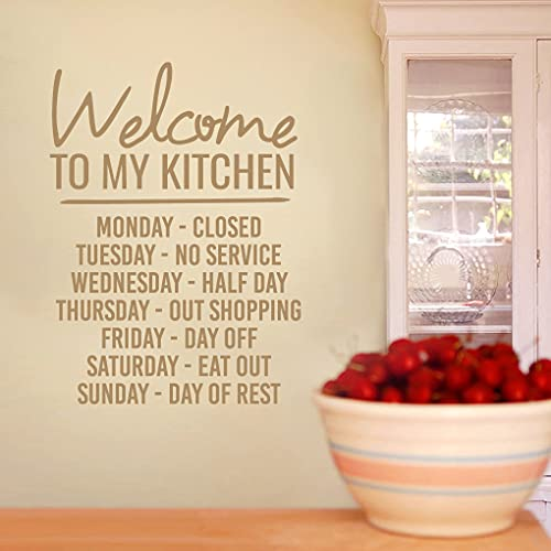 """Sweetums Signatures - Wall Decal for Kitchen - Welcome to My Kitchen Sticker 