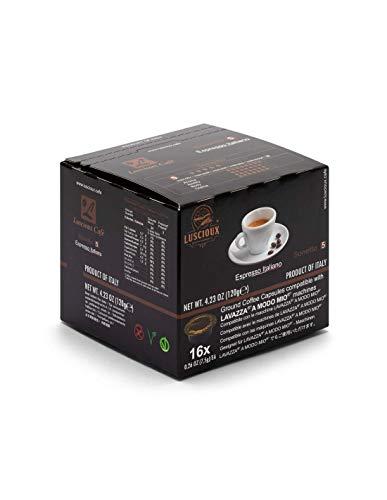 Luscioux Soneto, cápsulas Lavazza compatibles A Modo Mio |Sabor dulce y aroma afrutado. Envase de 12 [total 192 cápsulas]