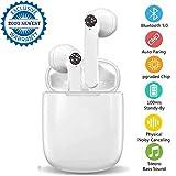 I18 Ecouteurs Bluetooth Ecouteurs sans Fil Oreillette Bluetooth 5.0 Automatique à réduction de...