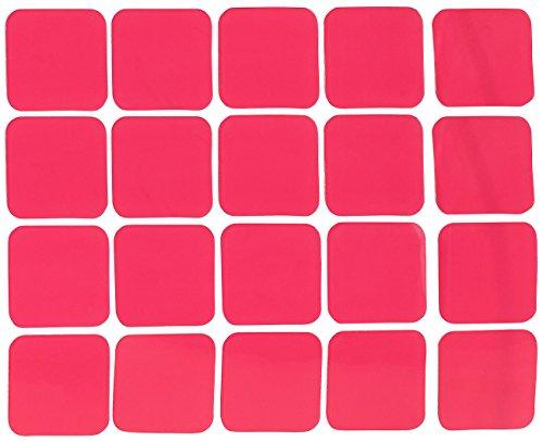 AGT Doppelseitiges Klebeband: 20er-Set doppelseitige Klebepads, 25 x 25 mm, Tragkraft 200 g/cm² (Klebestreifen)