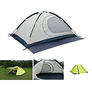 Luxe Tempo 2 Person 4 Season Tents Freestanding for Camping Backpacking Aluminum Poles All Weather Tested & Approved 2 Door 2 Vestibules Reflective