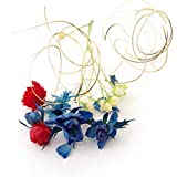 MokuMoku ハーバリウム ボールペン 花材 フラワーセット (薔薇ブルー×レッド(1個))