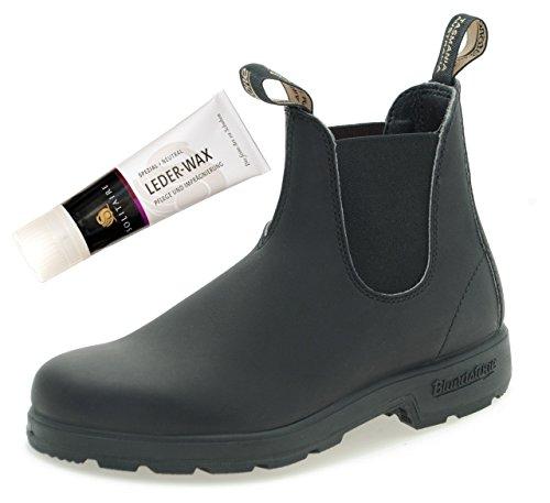 Blundstone Style 510 Classic Chelsea Boots Unisex Stiefelette - Black + Lederwax (UK 06.5 / EU 40.0)