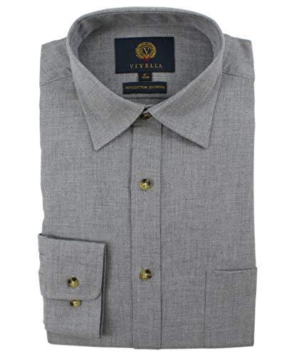 Viyella Herren Freizeit-Hemd Grau grau Gr. Kragenweite: 45, grau