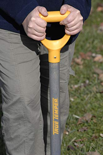 True Temper 2540700 16 in. Drain Trench Spade with 24 in. Hardwood D-Grip Handle and Comfort Step