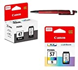 Canon PG 47 & CL 57 Small Ink Cartridge Combo Compatible with PIXMA