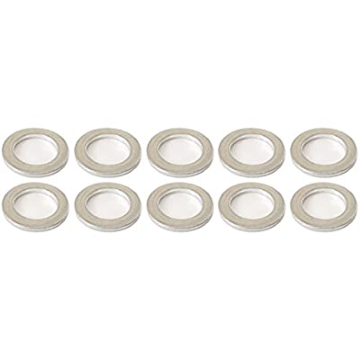 Prime Ave Aluminum Oil Drain Plug Washer Gaskets 14mm For Acura & Honda Part# 94109-140-00 (Pack of 10)
