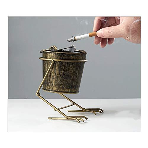 Smoking Ash Tray Retro Metal Cigarette Ashtray,Smoking Ash Tray For Indoor Or Outdoor Use,For Patio/Indoor/Home Bar Living Room Office Decor Cigarette Ash Tray ( Color : Bucket style bronze )