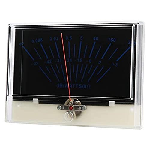 Creely P-134-BGB-S0416 VU Meter,Puntero Amplificador de potencia Meters Header Accesorio,Respuesta de puntero sensible,Para estudio de grabación
