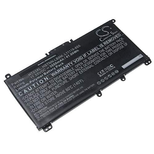 vhbw Akku Ersatz für HP HSTNN-LB8M, HT03XL, L11119-855, L11421-422 für Notebook (3550mAh, 11.55V, Li-Polymer, schwarz)