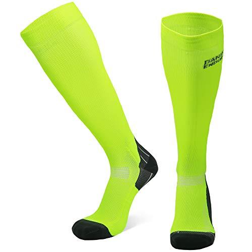 Abgestufte Kompression Socken für Männer & Frauen EU 35-38 // UK 3-5 Gelb - 1 Paar