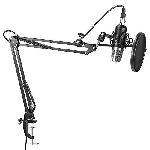 Neewer Micrófono Condensador Estudio Pro NW-7000 y Brazo Tijera...