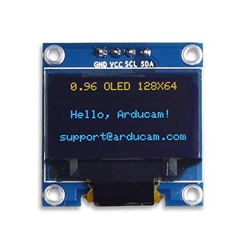 ARCELI 0.96 Inch OLED Module 12864 128x64 Azul Blanco SSD1306 Driver I2C Serial Auto-Luminous Display Board para Arduino Raspberry PI