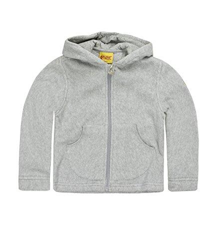Steiff Unisex - Baby Sweatjacke 0006837, Gr. 92, Grau (softgrey 8200)