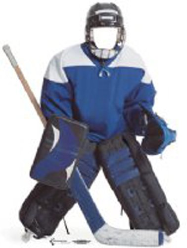Pappaufsteller Hockeyspieler Couple 'Stand In' Standup Figur Kinoaufsteller Pappfigur Cardboard Lebensgroß Life-Size Standup