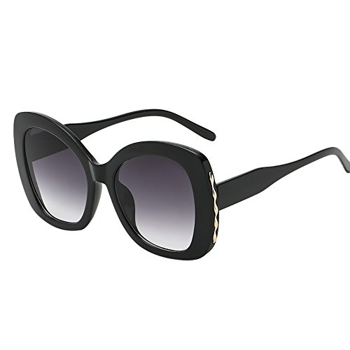 FRAUIT dames wijnoogst grote zonnebril frame onregelmatige vorm zonnebril Eyewear Retro Unisex