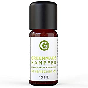 Greenmade - Aceite de alcanfor (10 ml, 100 % natural)