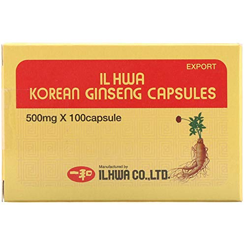Il Hwa | Cápsulas De Ginseng Coreano | 50 Grammos De Ginseng En Polvo Finamente Molido De 6 Años | Envase De 500 Miligramos x 100 Cápsulas