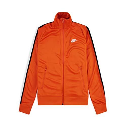 Nike Felpa da Uomo Sportswear in Tessuto Arancione AR2244-847