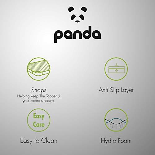 Panda The Topper Gel Infused Memory Foam (Hydro-Foam) Bamboo Mattress Topper (UK Double: 190 x 135 cm)