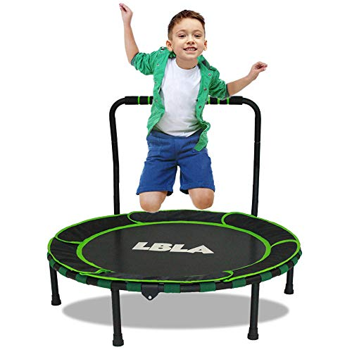 LBLA Kids Trampoline, Mini Trampoline 36'' Inch Indoor Outdoor with Handle and protective cover, Foldable Rebounder Jumper safe and durable