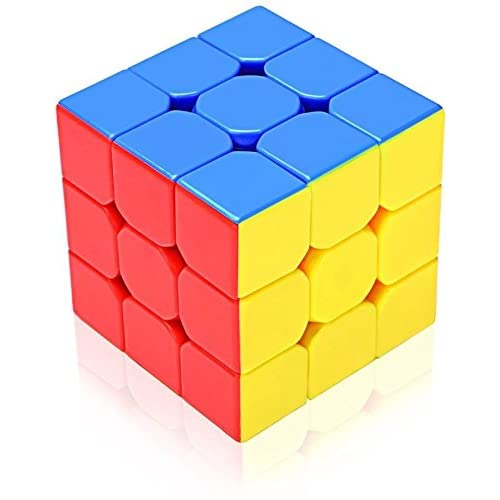 Photron CUB333 Magic Speed Cube 3x3x3, High Stability, Stickerless, Amazing Stress Reliever Cube Game, Easy Turning and Smooth Play Puzzle Toy, Multi-Color