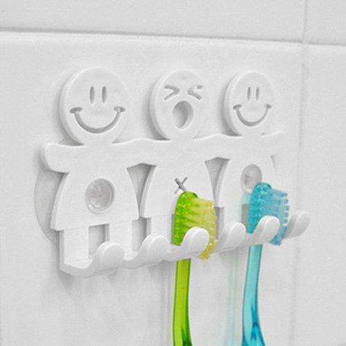 dontdo Smile Face Zahnbürstenhalter Badezimmer Küche Handtuchhalter Wand Saugnapf Haken Ständer umweltfreundlich mehrfarbig