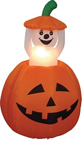 Animated Inflatable Pumpkin - Animated Halloween Decoration Idea