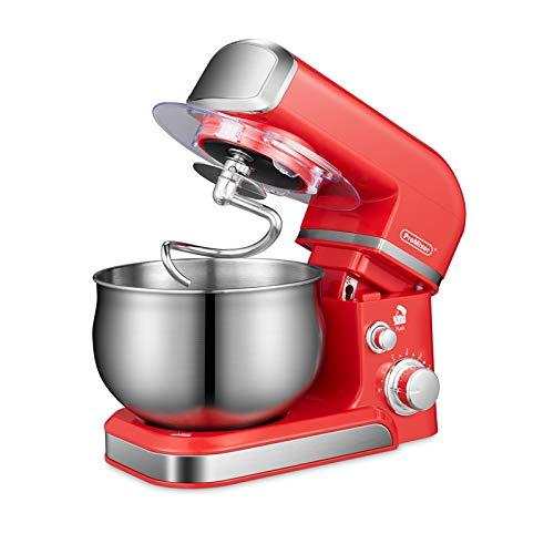 ProMixer, Q4, Stand Mixer, amasadora planetaria, robot de cocina, amasadora, batidora, multifunción, 4 L, 700 W, 6 velocidades, acero inoxidable, cuenco, crema, huevo, color rojo