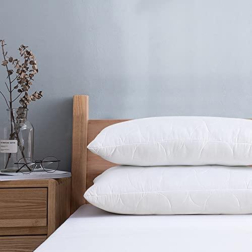 viewstar Kopfkissen 40x80 cm, 2er Set Kissen 40x80, ausgewählte Mikrofaser Füllung, Bett Kissen für Allergiker, Weiche & Angenehme Schlafkissen, Atmungsaktiv Komfort Hinzufügbar mit Reißverschluss