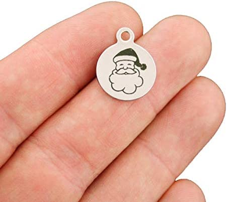 1 year warranty Santa Stainless Steel Charms - Smaller Line Q Size Exclusive Gorgeous