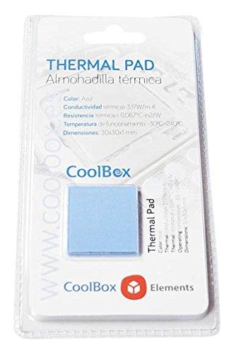 CoolBox Coo-TGH3W-Pad - Kit de pasta térmica para portátil (4 pads), Azul