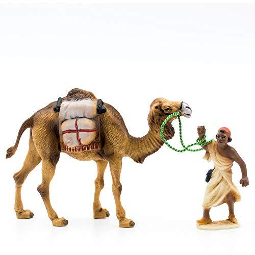 MAROLIN Kamel mit Gepäck + Treiber, zu 9cm Fig. (Kunststoff)