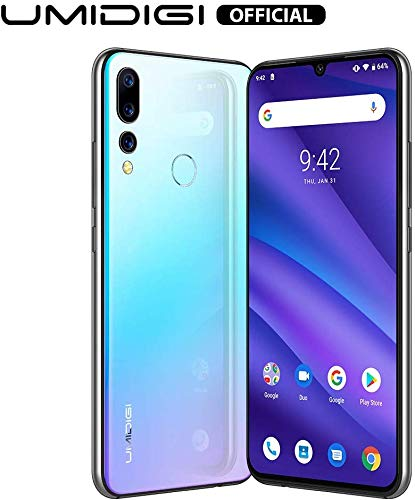 UMIDIGI A5 Pro Unlocked Mobile Phones SIM Free Dual 4G Smartphone 16MP+8MP+5MP Camera Smartphones 4150mAh Battery 6.3' FHD+ 32GB ROM 4GB RAM Android 9 Pie (Blue)