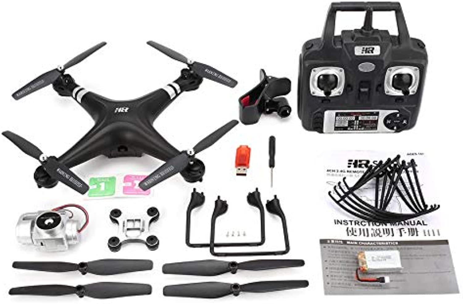 Yaoaoden SH5HD 2.4G FPV Drone RC Quadcopter with 720P Adjustable WiFi Camera Live Video Altitude Hold Headless Mode One Key Return