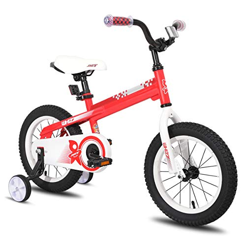 JOYSTAR 12 Inch Kids Bike with Training Wheels for 2 3 4 Years Old Boys, Toddler Cycle for Early Rider, Child Pedal Bike, Red