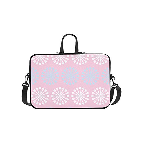 Shabby Chic Art Vintage Retro Floral Flower Pattern Briefcase Laptop Bag Messenger Shoulder Work Bag Crossbody Handbag for Business Travelling