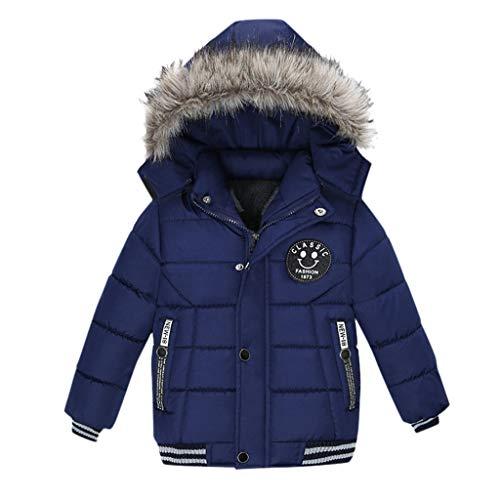 Bestyyo Mode Mantel Kinder Winterjacke Mantel Jungen Jacke Warm Kapuzen...