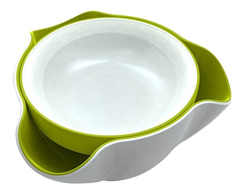 Joseph Joseph DDWG010GB Double Dish Pistachio Bowl and Snack Serving Bowl, Green/White
