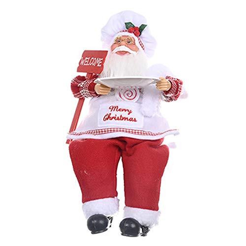 BULABULA Figura decorativa de Papá Noel con árbol de Navidad